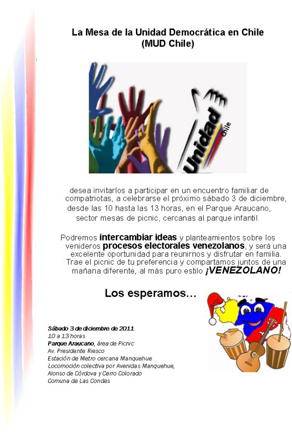 Invitación Encuentro Familiar Venezolano En Chile