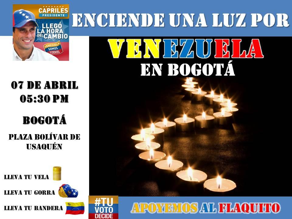Una Luz por venezuela - Bogotá