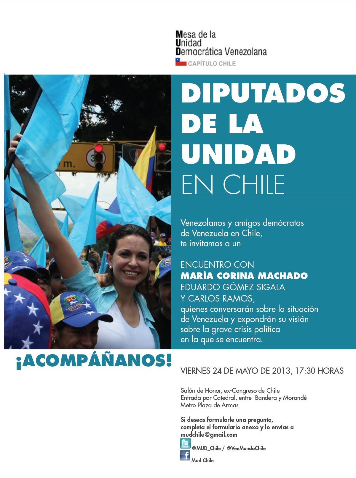 Invitación Encuentro Diputados de la Unidad en Chile