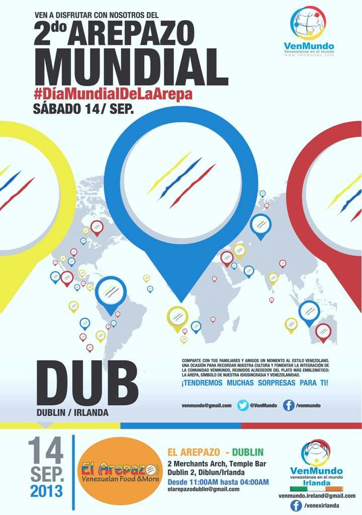 Afiche Arepazo 2013 Dublin