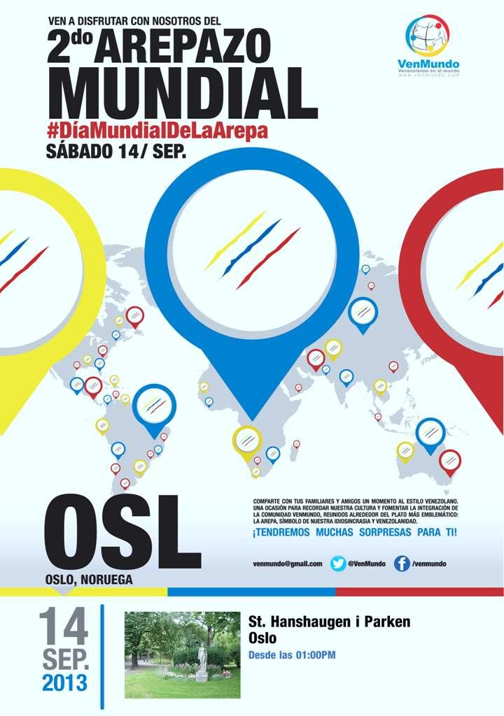 Afiche Arepazo 2013 (Oslo)